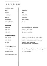 lebenslauf download1 - Lebenslauf Word Download