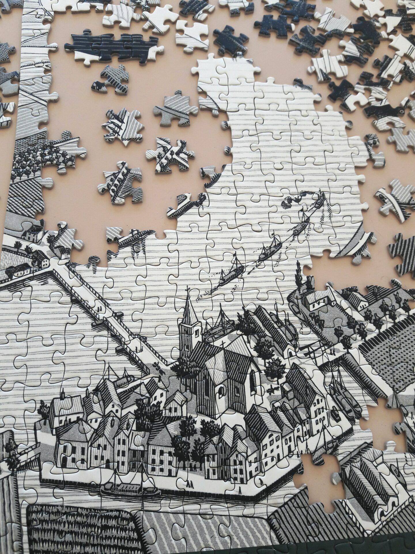 Puzzle – Puzzlegrößen, Geschichte