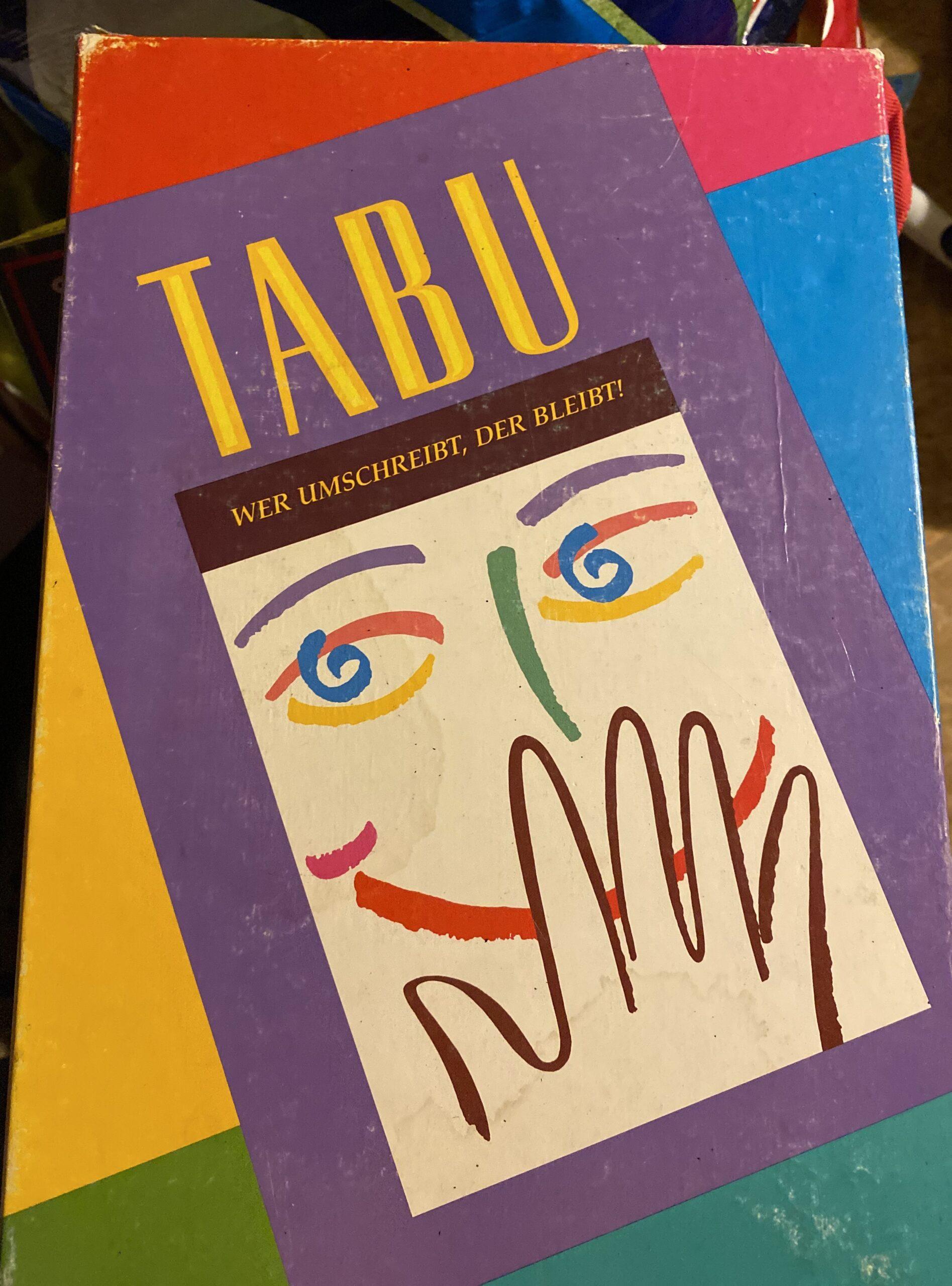 Spielregeln Tabu