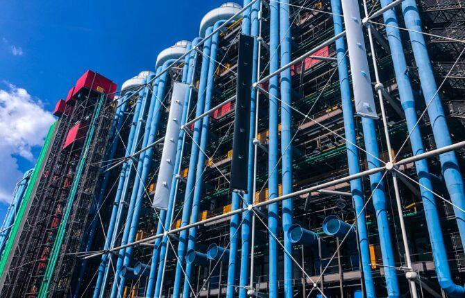 Centre Pompidou - Geschichte, Architektur